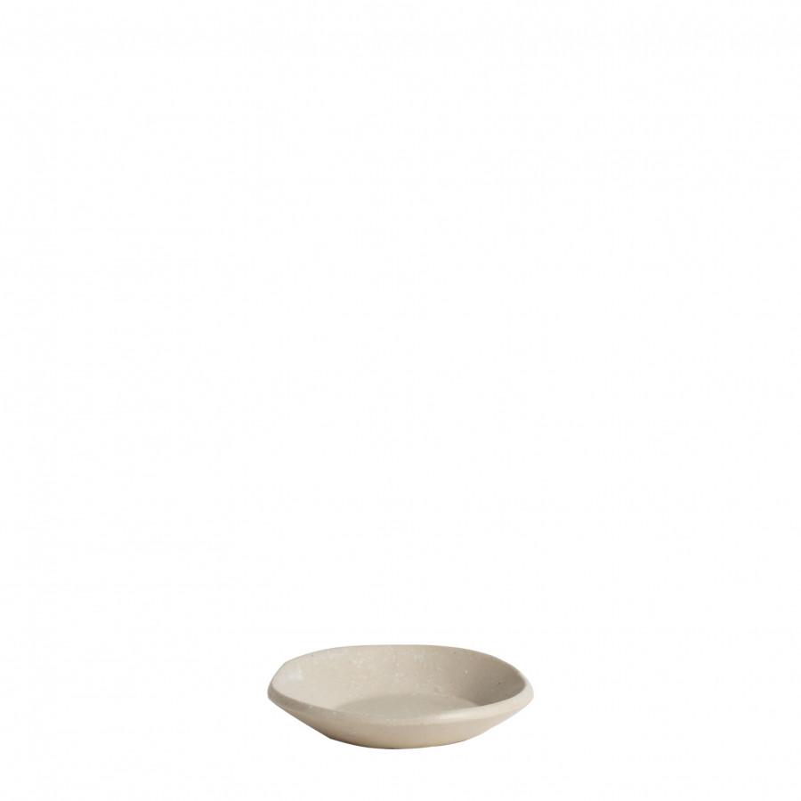 Piattino in gres bordo alto d9 cm