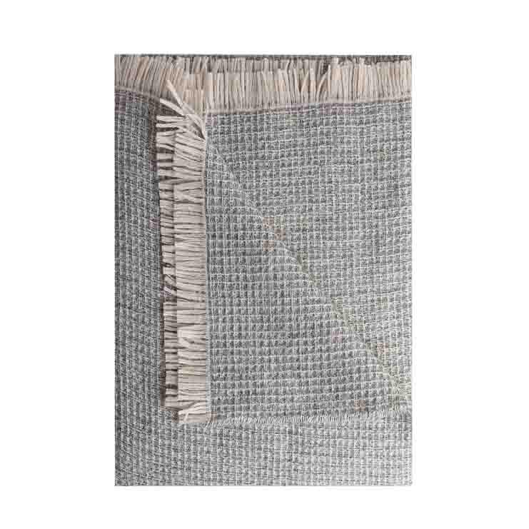 100% grey virgin wool honeycombed blanket 130g/m2