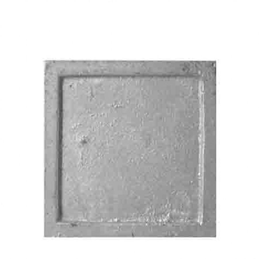 Piattino ferro color argento 18 x 18 cm