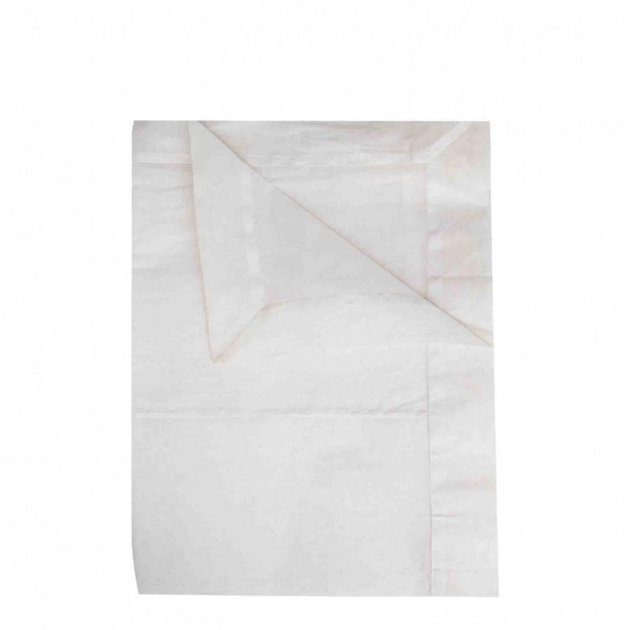 Nappe blanche en organza 260x160 cm