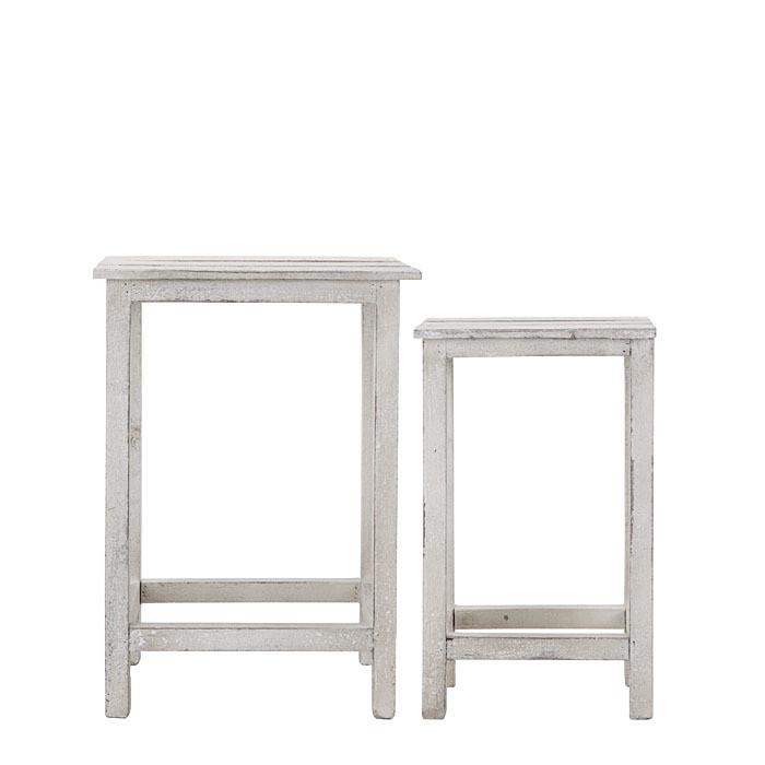 Set 2 sgabelli legno grigio listelli h48 cm