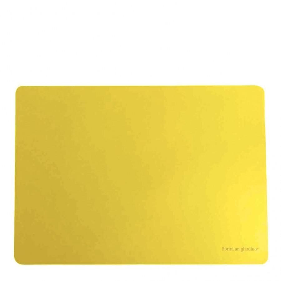 Tovaglietta similpelle giallo sole 32 x 45 cm