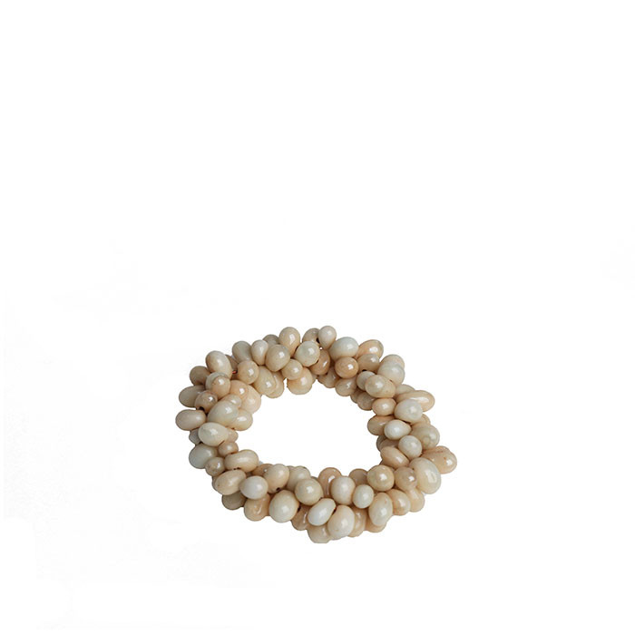 Napkin ring with cream pearls d6cm