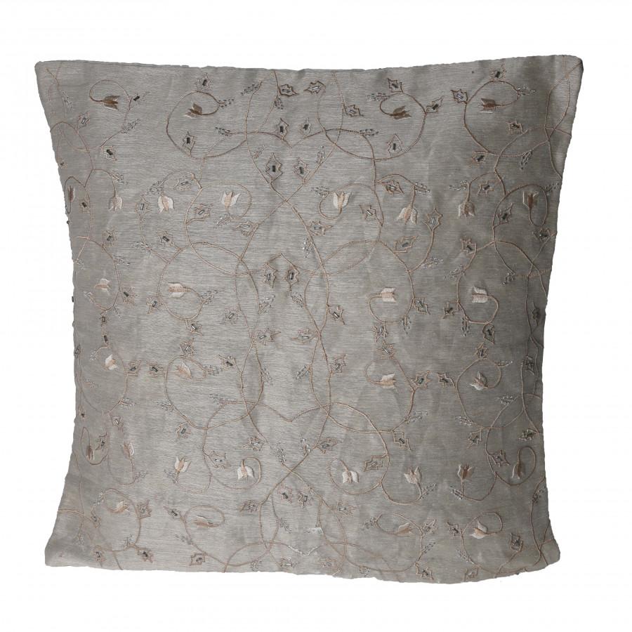 Fodera cuscino seta ricamato con perline 40 x 40 cm