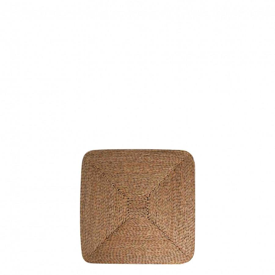 Cuscino corda chiara 40 x 40 h5 cm