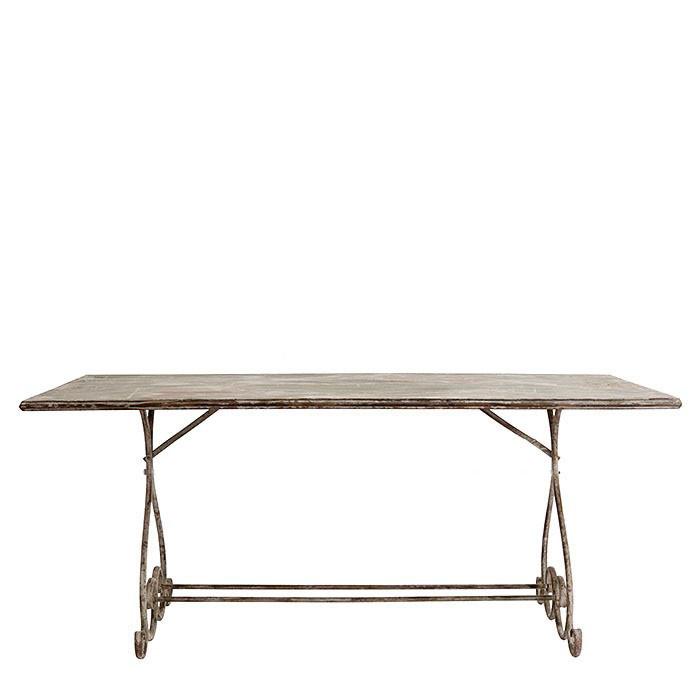 Tavolo rettangolare antichizzato ferro grigio 180 x 90 h78 cm