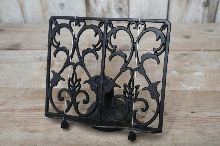 Pupitre en fer noir pour table 27cm