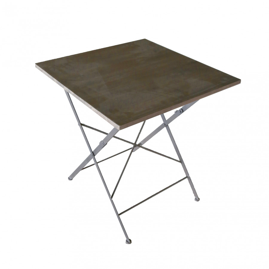 New folding wood and iron bistrot table  (indoor use)