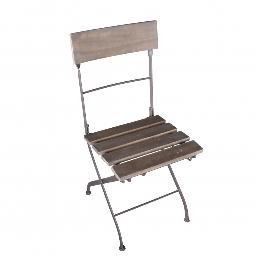 New bistrot wood and iron folding chair 42x52 h90cm