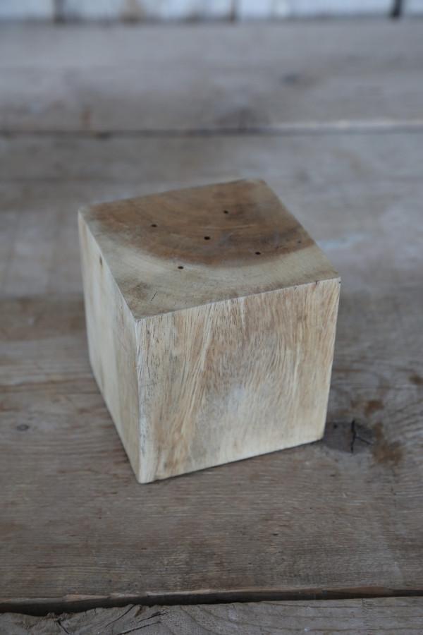 Cubo legno portaincensi 10 x 10 h10 cm