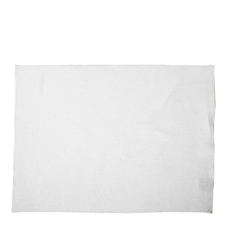 100% white hem placemat with white edge 35 x 50 cm