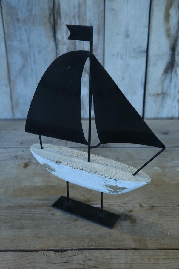 Barca handmade ferro e legno con base 35 cm