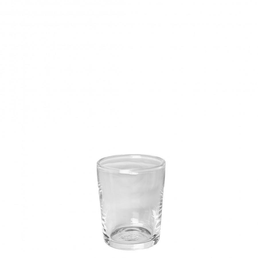 Vaso vetro soffiato conico spesso h11 cm