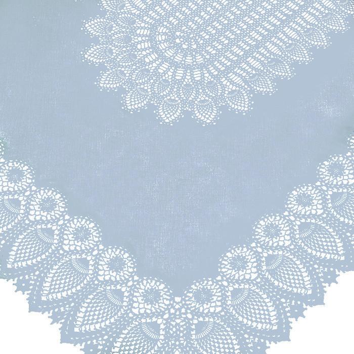 Light blue vinyl lace waterproof tablecloth 150 x 264 cm