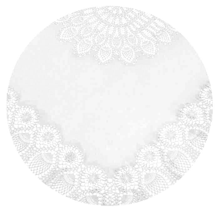 Round white vinyl lace waterproof tablecloth d178 cm