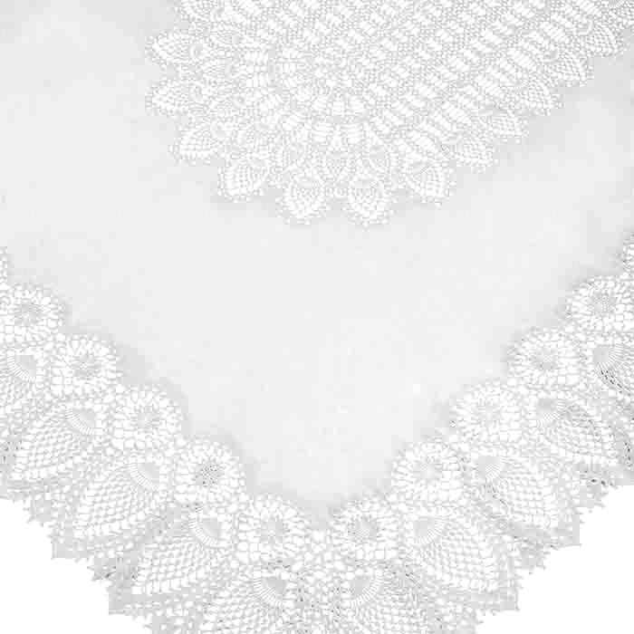 White vinyl lace waterproof tablecloth 150 x 264 cm