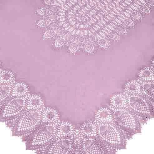 Mauve vinyl lace waterproof tablecloth 150 x 264 cm