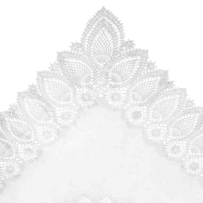White vinyl lace waterproof tablecloth 137 x 182 cm