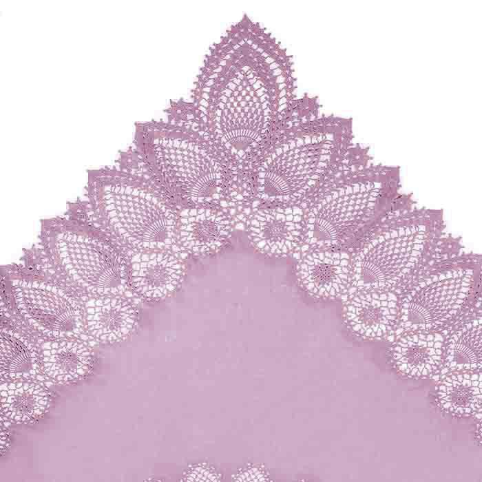 Mauve vinyl lace waterproof tablecloth 137 x 182 cm