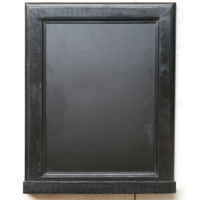 Lavagna nera con mensolina poggia gessi 48 x 37 cm