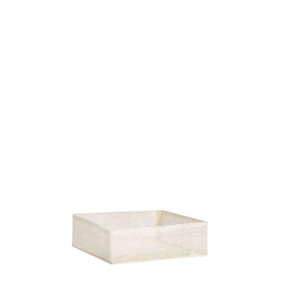 Abaca net napkin holder cream color 16x16 cm