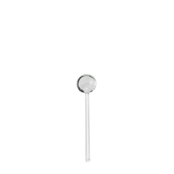 Petite cuillere en verre borosilicate 12.5 cm