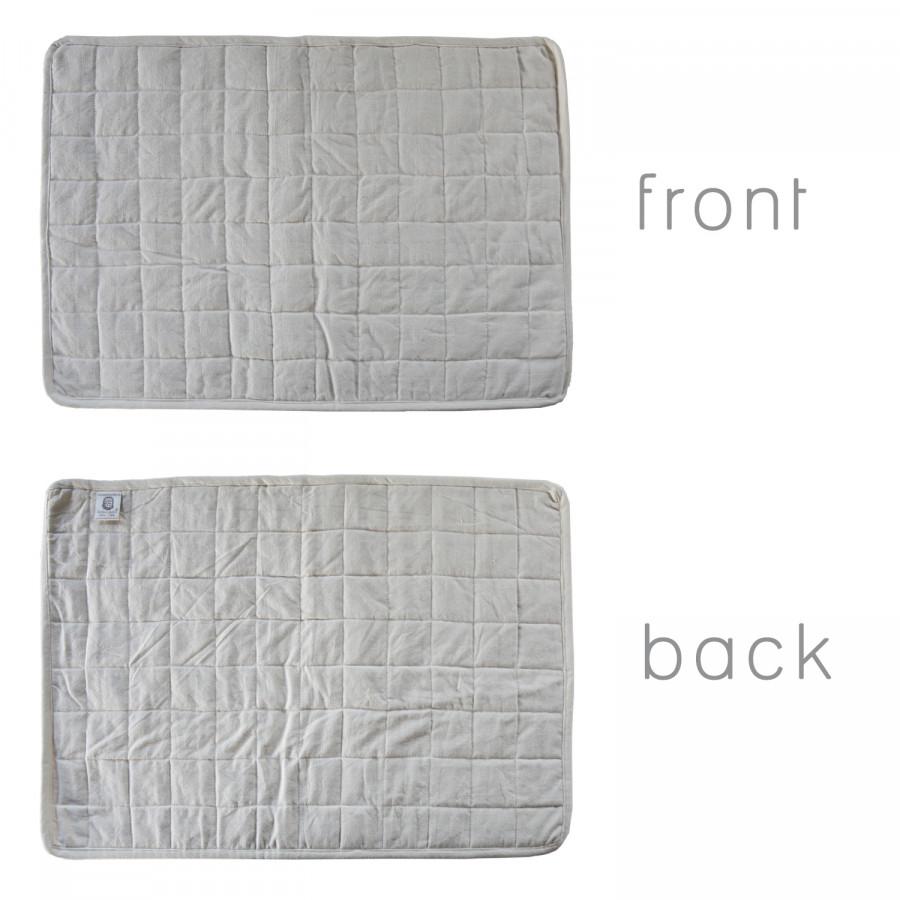 Tappeto imbottito 100%cotone panna quadri 42 x 60 cm