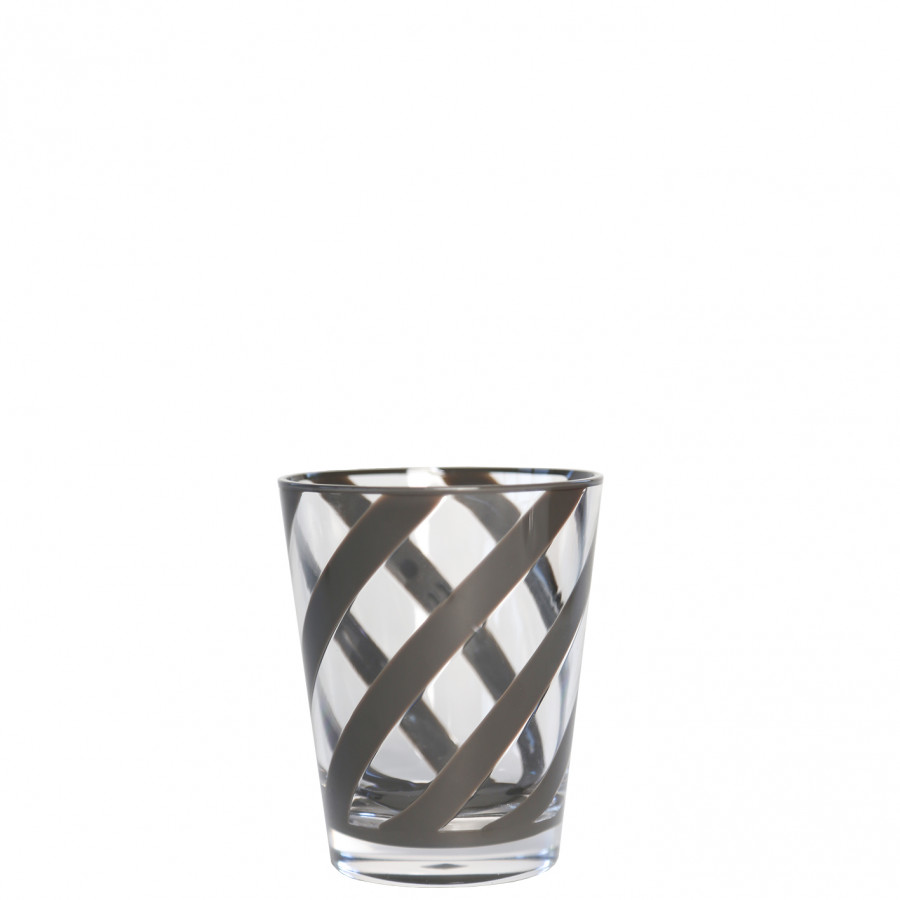 Methacrylate glass with brown spiral d9 h11 cm