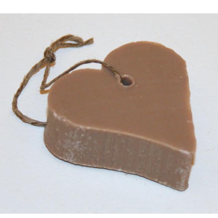 Sapone handmade a forma di cuore colore lino 4.5 cm