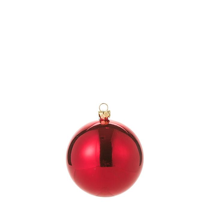 Confezione 6 palle in vetro colore rosso d7 cm