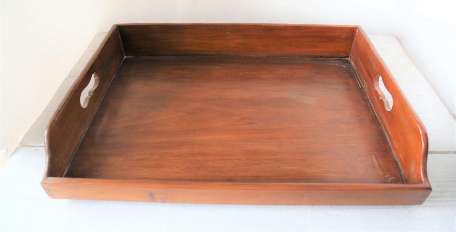 Vassoio butler in legno marrone 65 x 46 h7 cm