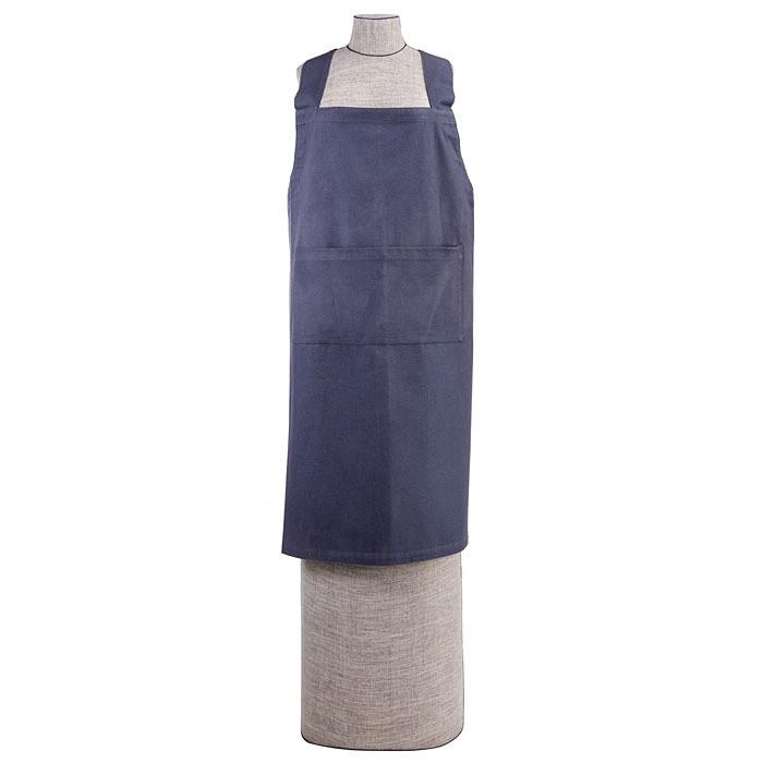 Grembiule incrocio small 100%cotone azzurro polver 89 cm
