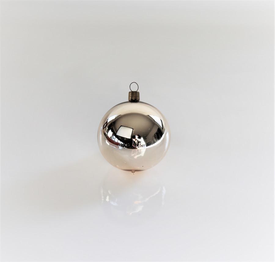 Pallina vetro colore argento d7 cm