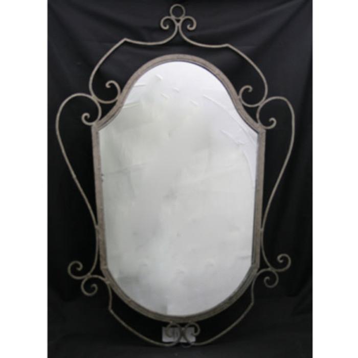 Specchio ferro grigio decoro h70