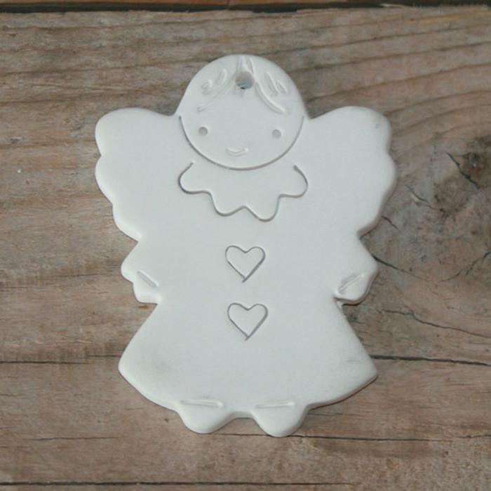 White chalk smiling angel diffuser 9cm