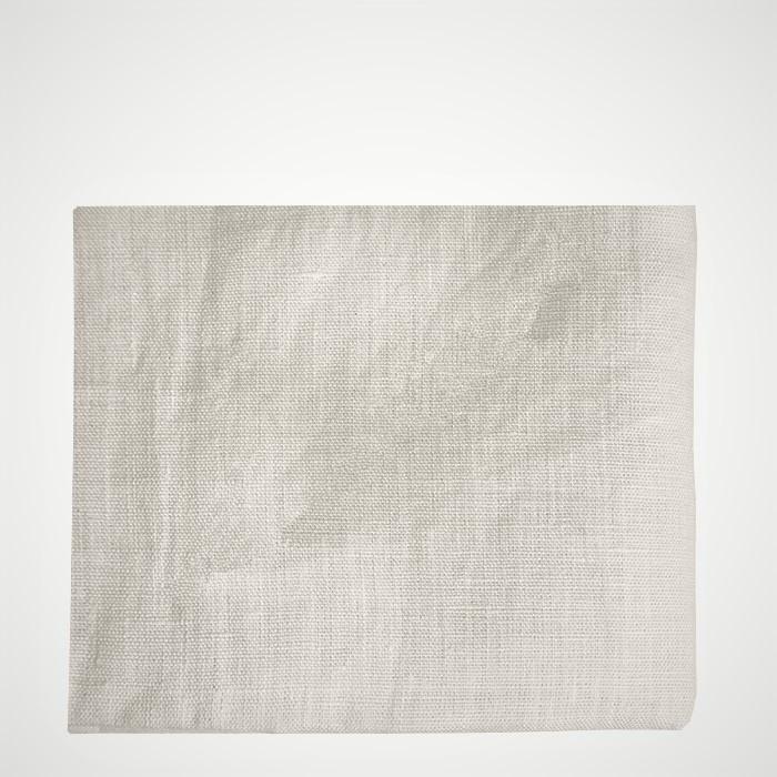 100% cream linen tablecloth 460x200 cm