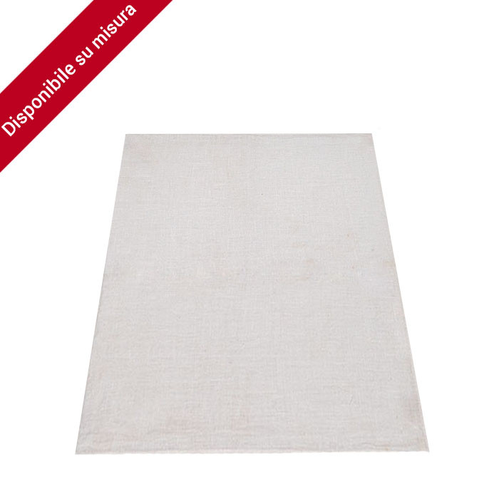 100% linen white tablecloth with herringbone texture 380x140 cm
