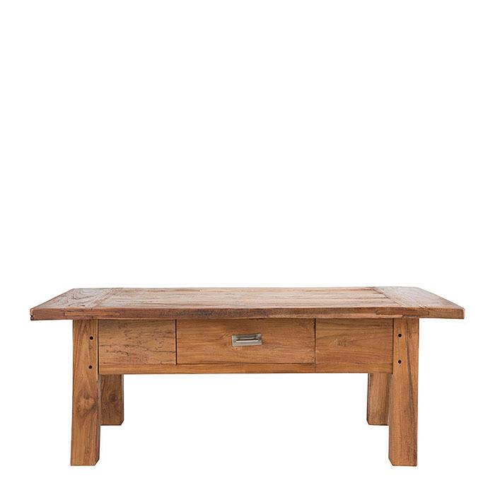 Tavolo legno teak 1 cassetto 78 x 120 h50 cm