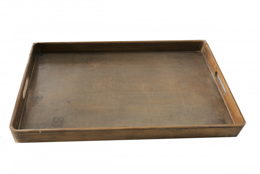 Vassoio vintage rettangolare dorato 29 x 45 cm