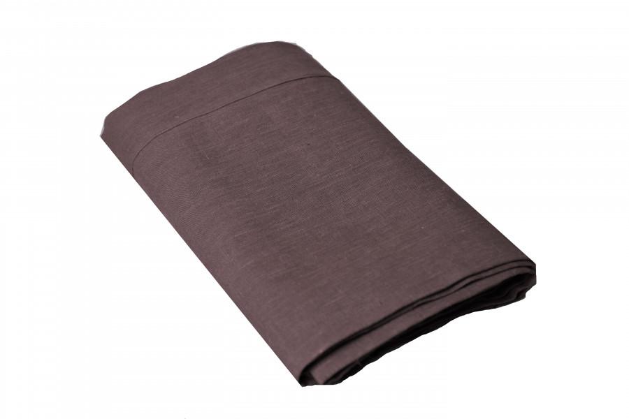Tovaglia lino/cotone con orlo a giorno brown 270 cm
