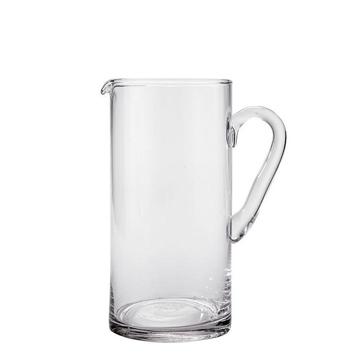 Cruche en verre transparent d12 h24 cm