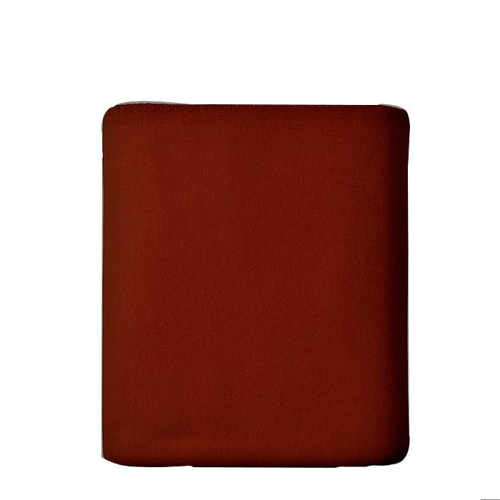 Plaid pile colore rosso scuro 180 x 165 cm