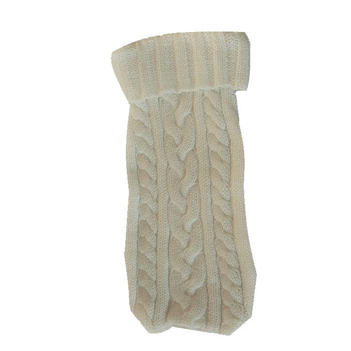 Copriborsa in maglia nocciola