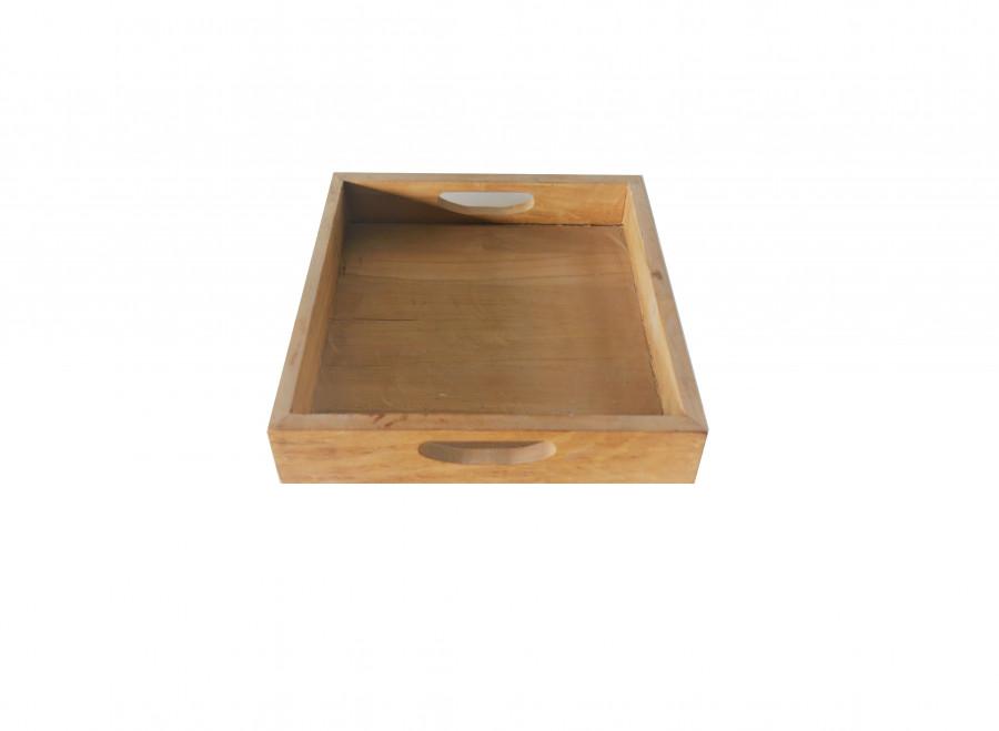 Vassoio quadrato in teak 50 x 50 h6 cm