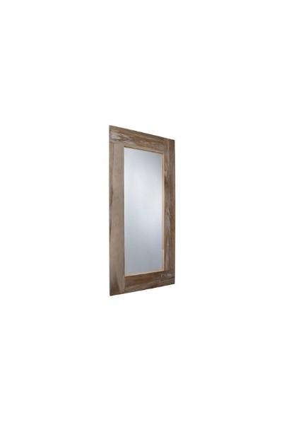 Specchio in legno taglio obliquo 75 x 120 cm