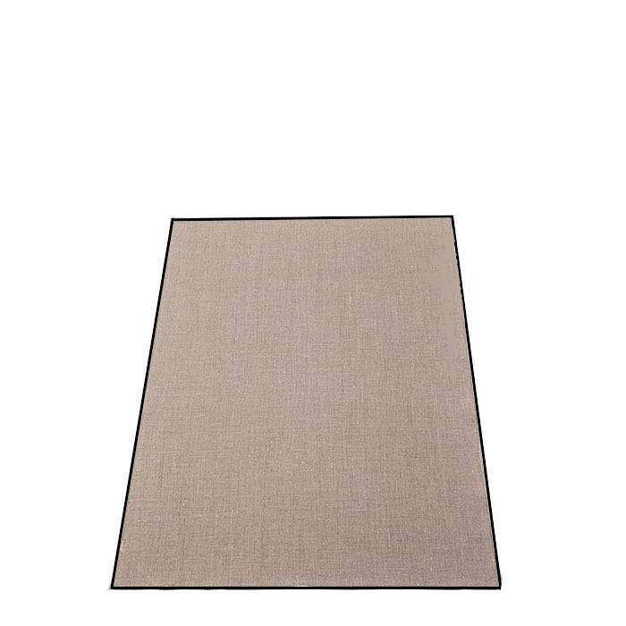 Canovaccio 100%lino liscio04 naturale bordo nero 50 x 70 cm