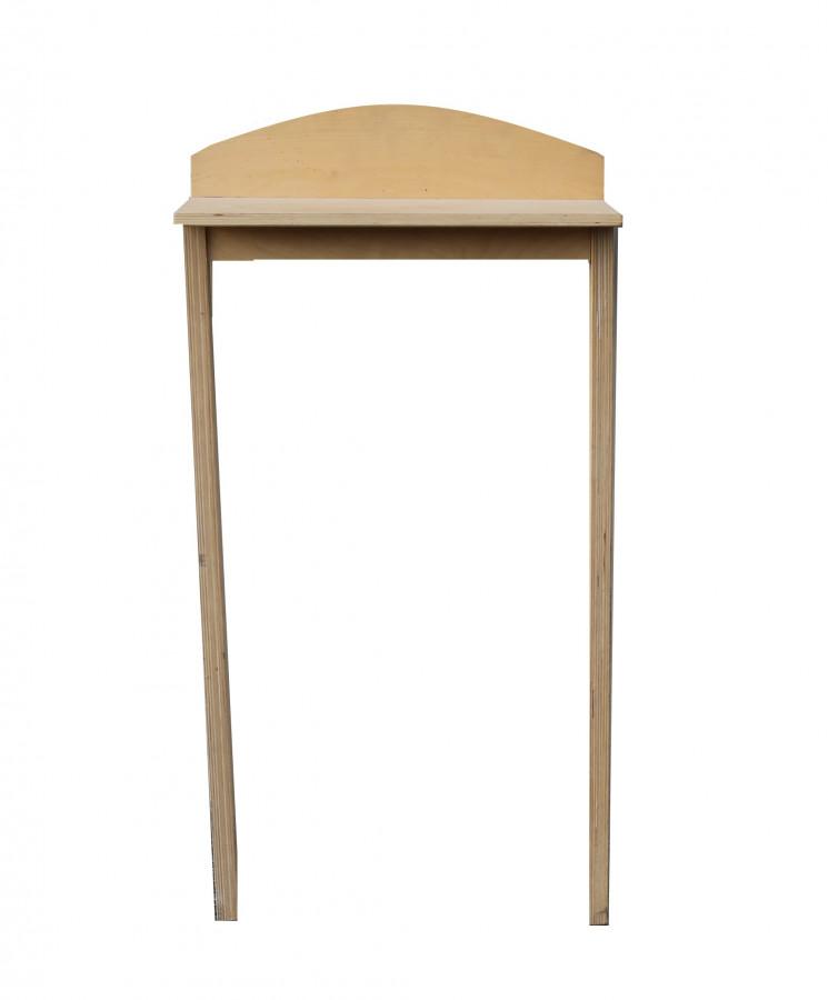 Tavolo da muro vintage due gambe legno chiaro 45 x 25 h86 cm