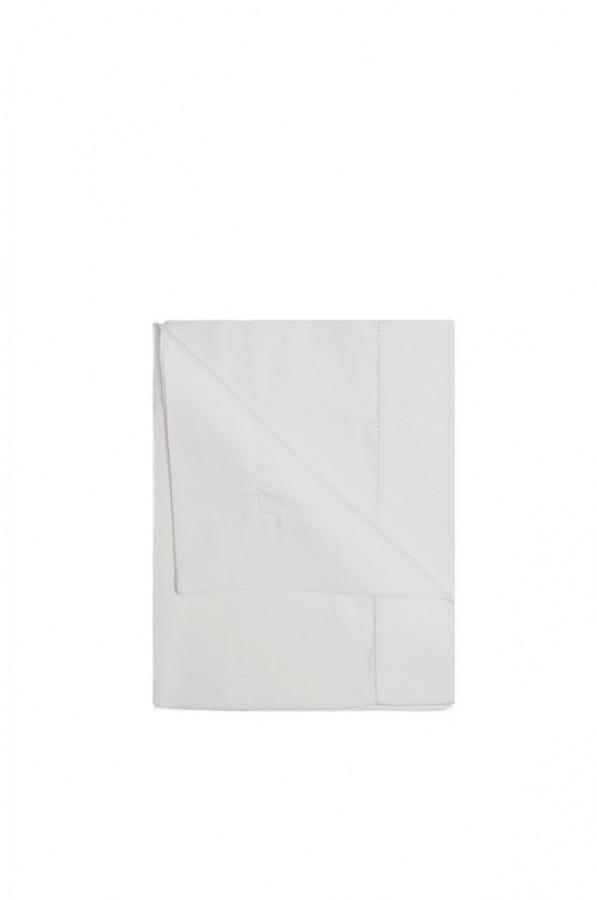 Tovaglia lino/cotone orlo giorno colore perla 160x270 cm