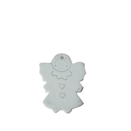 Diffusore angelo con sorriso in terracotta h9 cm