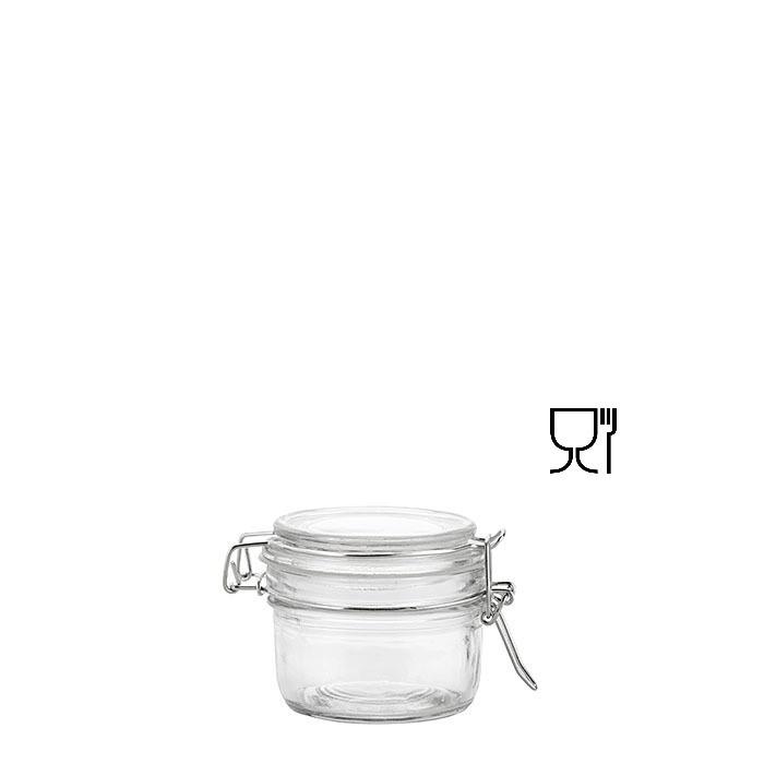 Barattolo in vetro con clip v180 ml d7 h8 cm